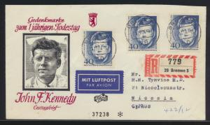 Berlin R Brief MEF 241 Kennedy schöner Umschlag nach Nicosia Zypern