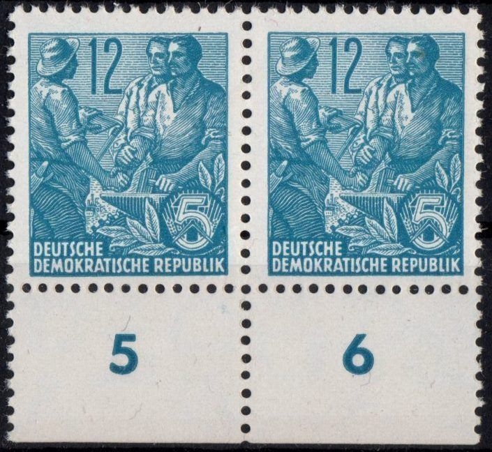 DDR: MiNr. 410 YI, 21.11.1953,