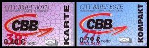 City Brief Bote: MiNr. 7 - 8,