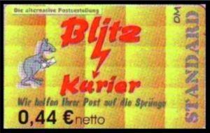 Blitz-Kurier: MiNr. 9 A,