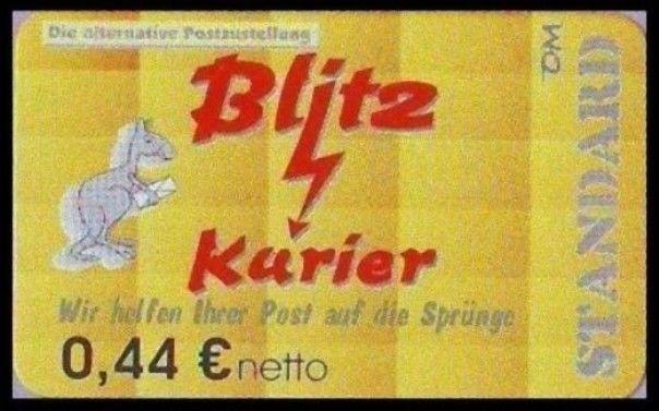 Blitz-Kurier: MiNr. 9 B,