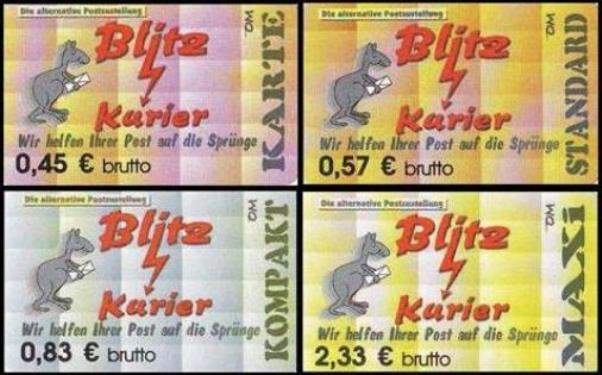 Blitz-Kurier: MiNr. 31 - 34,