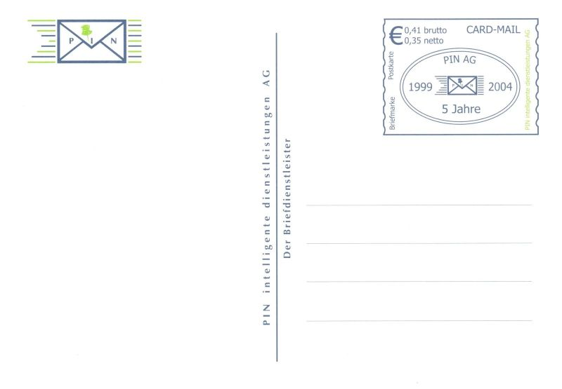 PIN AG: MiNr. PK 16,
