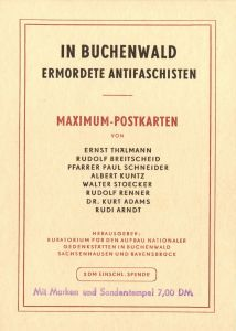 DDR: MiNr. 606 A - 608 A, 635 - 639,