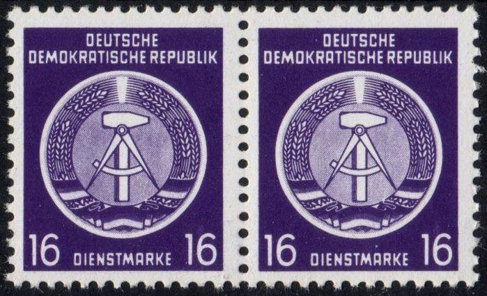 DDR - Dienstmarken A: MiNr. 7 x X I,