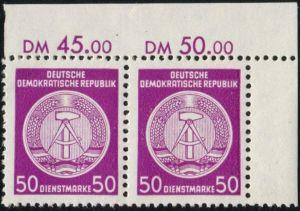 DDR - Dienstmarken A: MiNr. 26 x X I,