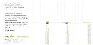 PIN Mail: 4 Gratispostkarten der PIN Mail, ungebraucht