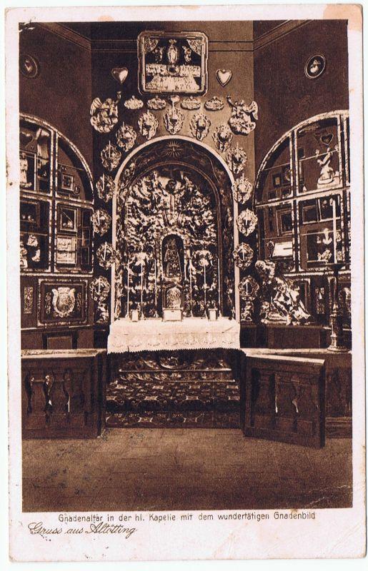Gruß aus Altötting Gnadenaltar  1929