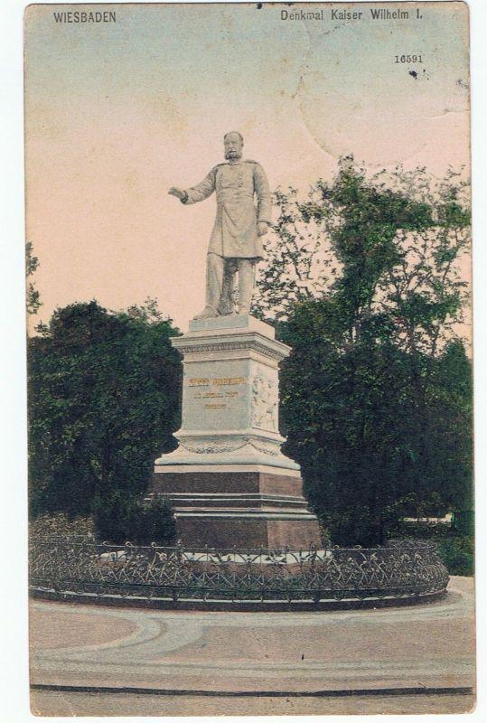 Wiesbaden Denkmal Kaiser Wilhelm I. gel 1914