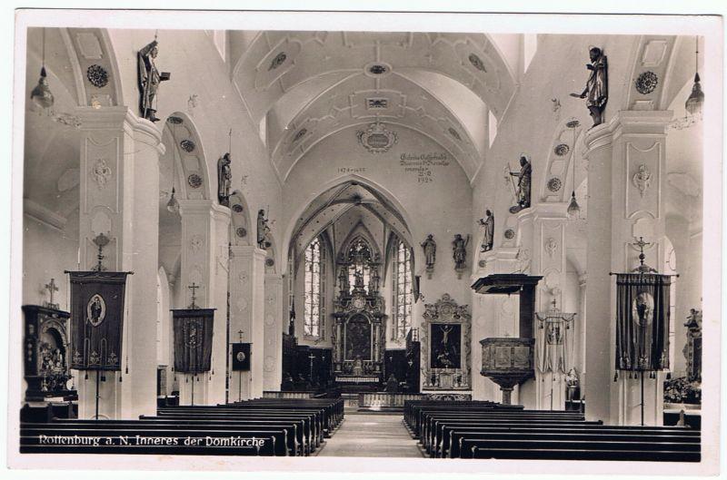 Rottenburg, Dom Inneres der Domkirche, gel. 1948