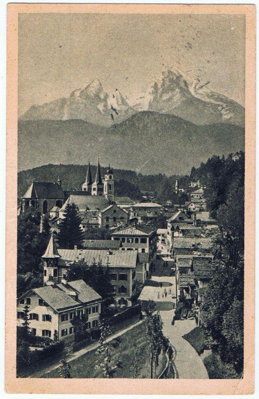 Berchtesgaden vom Monnthal Watzmann, gel.1921
