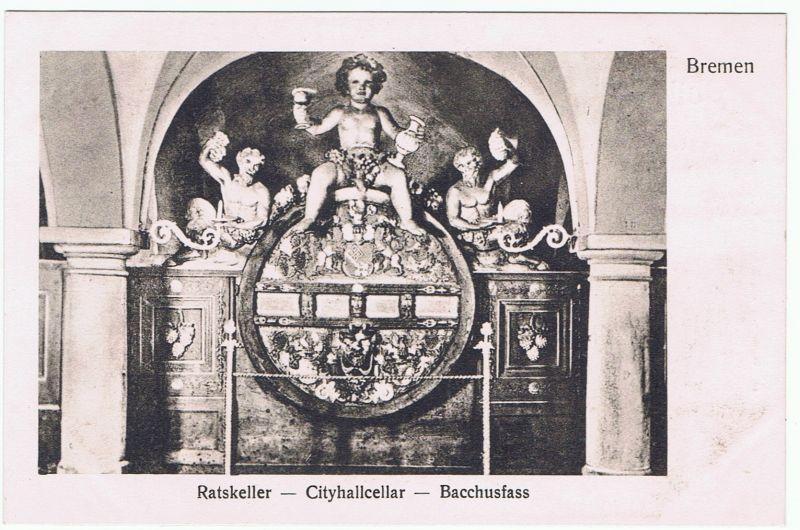Bremen Ratskeller Cityhallcellar Bacchusfass, 1906