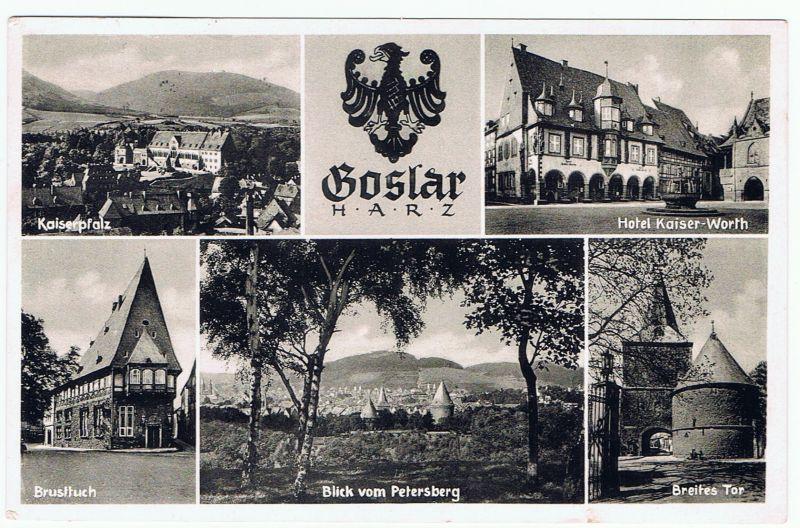 Goslar, Harz, Mehrbild AK,  gel. 1956
