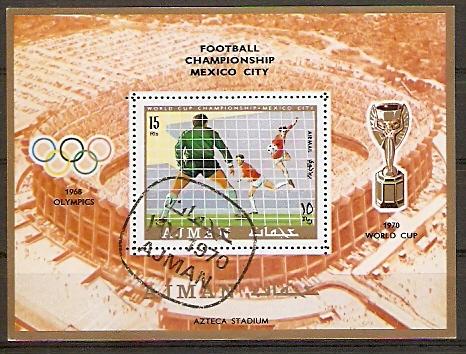 Ajman Block 189 A o Fußball WM 1968, Mexiko (20151058)