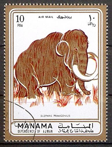 Ajman-Manama 689 A o Wollhaarmammut (2018154)
