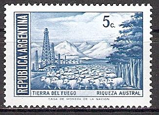 Argentinien 1096 ** Schafherde auf Feuerland (2015479)