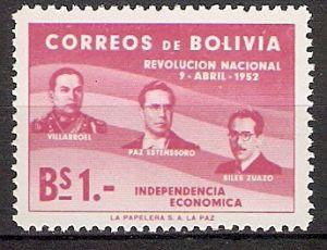 Bolivien 524 ** Revolution vom 9. April 1952 (2018159)