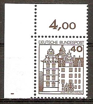 BRD 1037 A (B) ** 40 PF B&S Bogenecke o.l. (2015991)