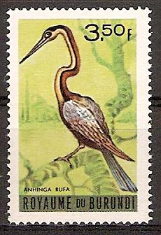 Burundi 148 ** Afrikanischer Schlangenhalsvogel (2015682)