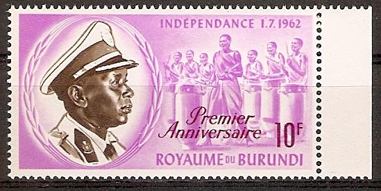 Burundi 55 A ** 1. Jahrestag der Unabhängigkeit (2015680)