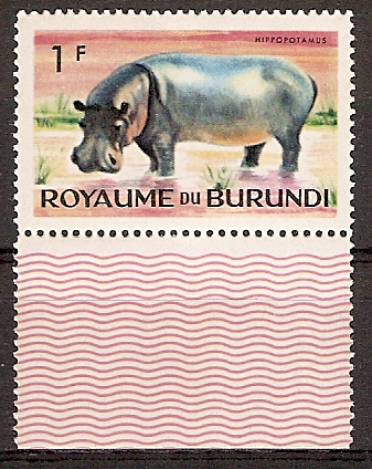 Burundi 88 A ** Flusspferd (2015678)