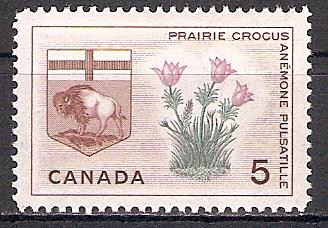 Canada 366 ** Wappen von Manitoba / Präriekrokus (2017466)