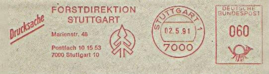 Freistempel Stuttgart - Forstdirektion (#113)