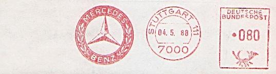 Freistempel Stuttgart - Mercedes Benz (#98)