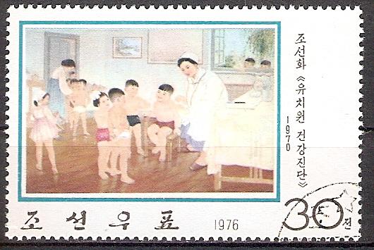 Korea-Nord 1476 o Ärztliche Untersuchung im Kindergarten (2017104)