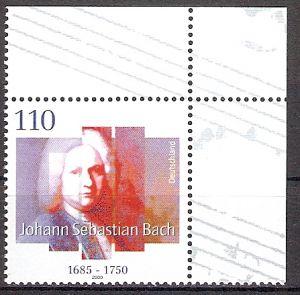 BRD 2126 ** Johann Sebastian Bach - Bogenecke o.r. (201786)