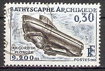 Frankreich 1421 o Tiefseetauchgerät Archimedes (2017516) 0