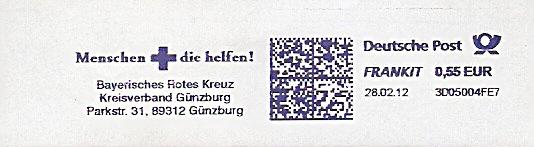 Freistempel 3D05004FE7 Günzburg - Rotes Kreuz (#6) 0