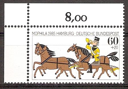 BRD 1255 ** MOPHILA 1985 Bogenecke o.l. (20151137) 0
