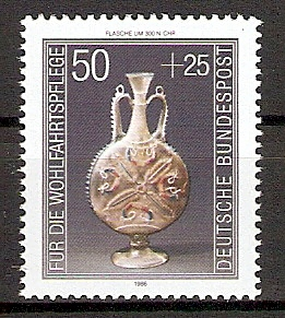 BRD 1295 ** Wohlfahrt 1986 Kostbare Gläser (20157)
