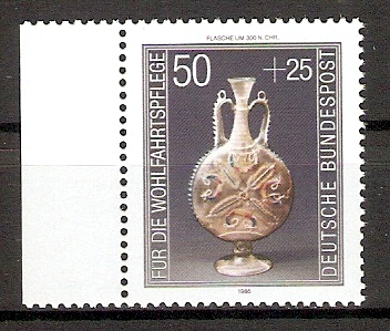 BRD 1295 ** Wohlfahrt 1986 Kostbare Gläser (20158)
