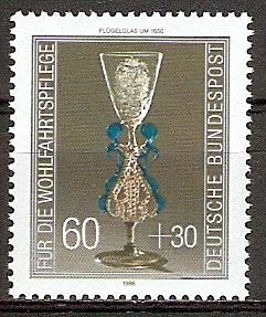 BRD 1296 ** Wohlfahrt 1986 Kostbare Gläser (20151035)