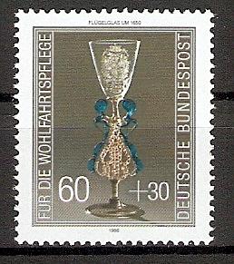 BRD 1296 ** Wohlfahrt 1986 Kostbare Gläser (20156)