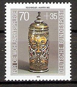 BRD 1297 ** Wohlfahrt 1986 Kostbare Gläser (20154)