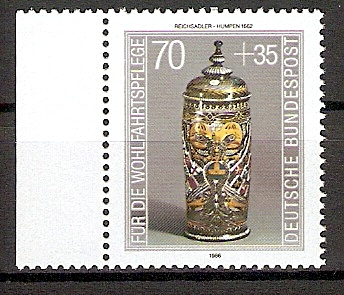 BRD 1297 ** Wohlfahrt 1986 Kostbare Gläser (20155) 0