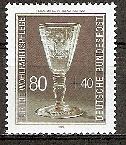BRD 1298 ** Wohlfahrt 1986 Kostbare Gläser (20151037)