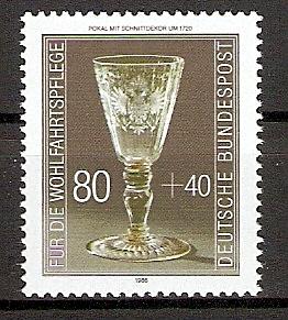 BRD 1298 ** Wohlfahrt 1986 Kostbare Gläser (20153)