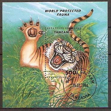 Tansania Block 251 o Tiger (2018247)