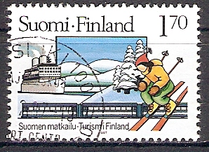 Finnland 1011 o Tourismus / Skiläufer (2017414)