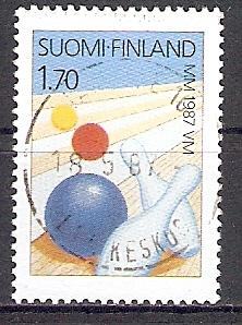 Finnland 1015 o Bowling WM 1987 (2017415)