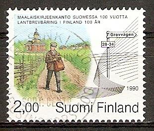 Finnland 1113 o 100 Jahre Landpostdienst (20151013)