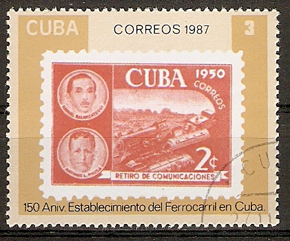 Cuba 3142 o 150 Jahre Eisenbahn in Cuba (2015824)Gestempelt !
