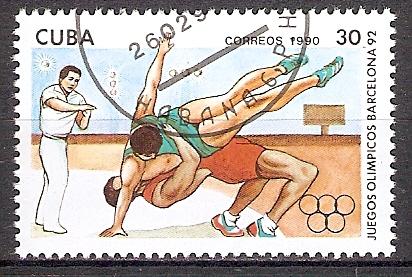 Cuba 3367 o Olympiade Barcelona 1992 / Ringen (201860)