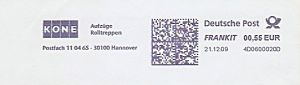 Freistempel 4D0600020D Hannover - KONE Aufzüge (#180)