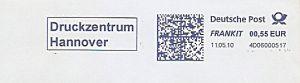 Freistempel 4D06000517 Hannover - Druckzentrum (#272)