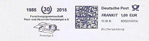 Freistempel 6D0200001A Ammersbek - 30 Jahre FG Freistempel (Abb. Frankiermaschine) (#290)